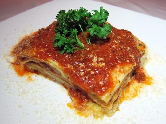 Lasagna Bolognese at Daniela's Restaurant in North Naples.