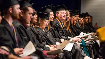 The Western New Mexico University students of 2014 at their fall commencement in Silver City.