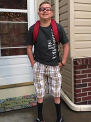 Peyton West was eager to return to school Thursday,