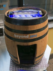Instead of water, the Beyond Zero machine can quickly