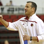 UofL Women's Basketball Coach Jeff Walz talks to his players during practice. October 27, 2015
