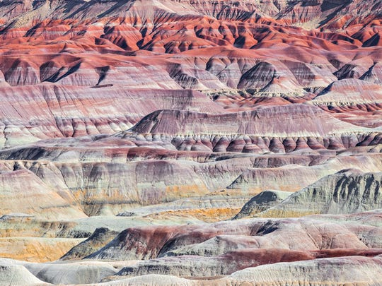 The Painted Desert covers roughly 7,500 square miles across Northern Arizona.