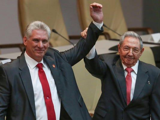 Miguel Diaz-Canel, Raul Castro