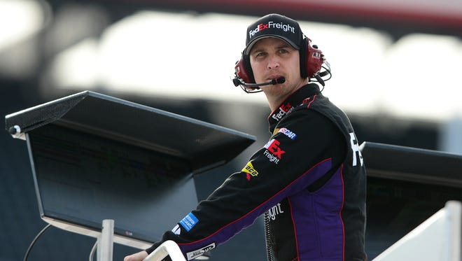 Denny Hamlin missed four races and part of another in 2013 after breaking his back in a crash at Auto Club Speedway last March.