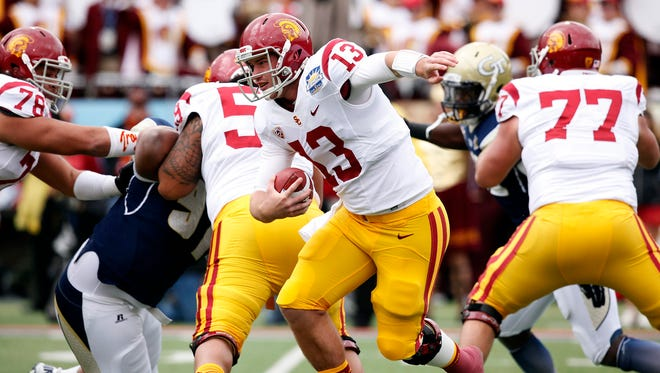 Max Wittek is one of two quarterback contending to replace Matt Barkley.