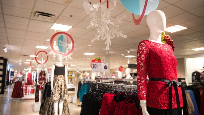 Black Friday deals and holiday shopping displays filled J.C. Penney at Coastland Center mall in Naples on Thursday, Nov. 16, 2017.