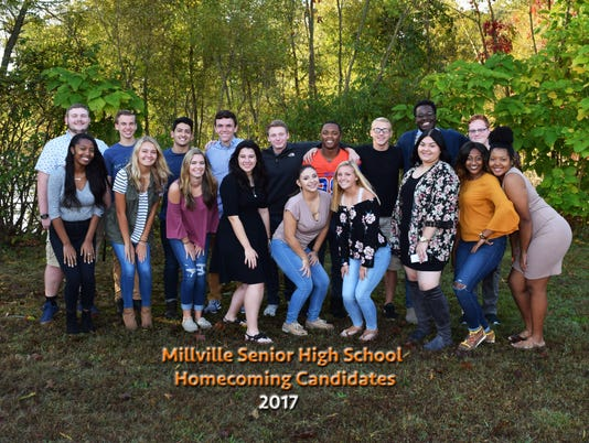 Millville Homecoming Candidates 2016