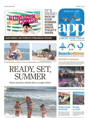 Asbury Park Press front page, Friday, 5/27/16