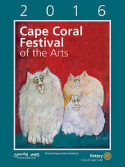 The official event poster of the 31st Cape Coral Festival of the Arts was designed by artist Don Nedobeck. Nedobeck is best known for his whimsical and colorful paintings of animals and his use of acrylic, enhanced with pen, ink and colored pencils.