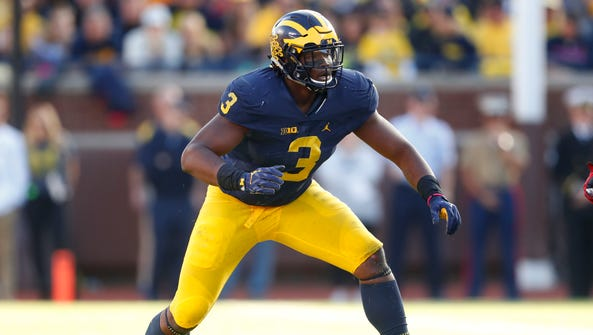 Michigan defensive end Rashan Gary, the former Paramus