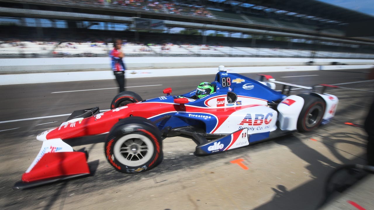 IndyCar Series driver Conor Daly got a few final laps in at Indianapolis Motor Speedway Friday. Video by Mandi Wright/DFP