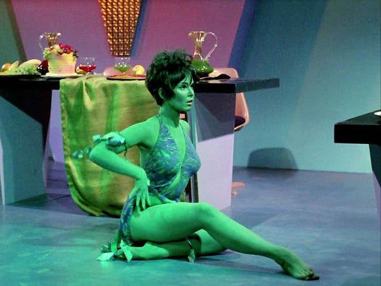 "Yvonne Craig played Marta, the Orion slave girl in 1969's ""Whom Gods Destroy"" episode of ""Star Trek"""