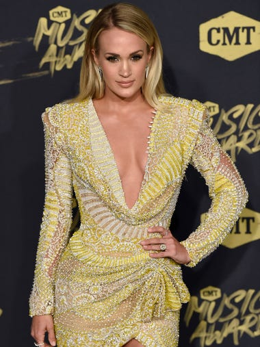 Carrie Underwood on the red carpet at the 2018 CMT