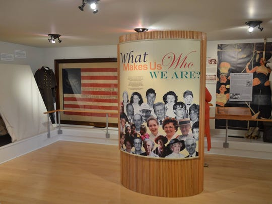 Photo of exhibit room at the McAllister House Welcome Center at Manitowoc County Historical Society.