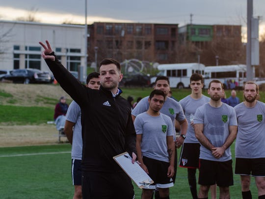 Lee Squires looks to lead Greenville FC in its inaugural