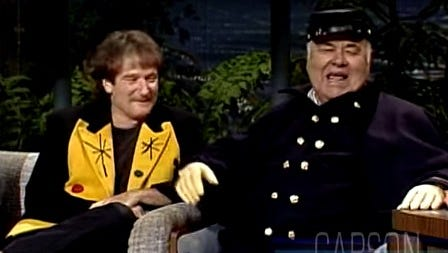 Robin Williams and Jonathan Winters on Johnny Carson.