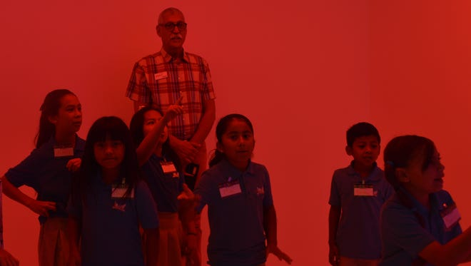 """A visit to the Palm Springs Art Museum included an exhibition that provided a lesson in """"chromosaturation"""" for these Coachella Valley third graders and their art educator."""