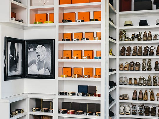 Theresa Roemer's 3,000-square-foot closet is beautifully arranged.