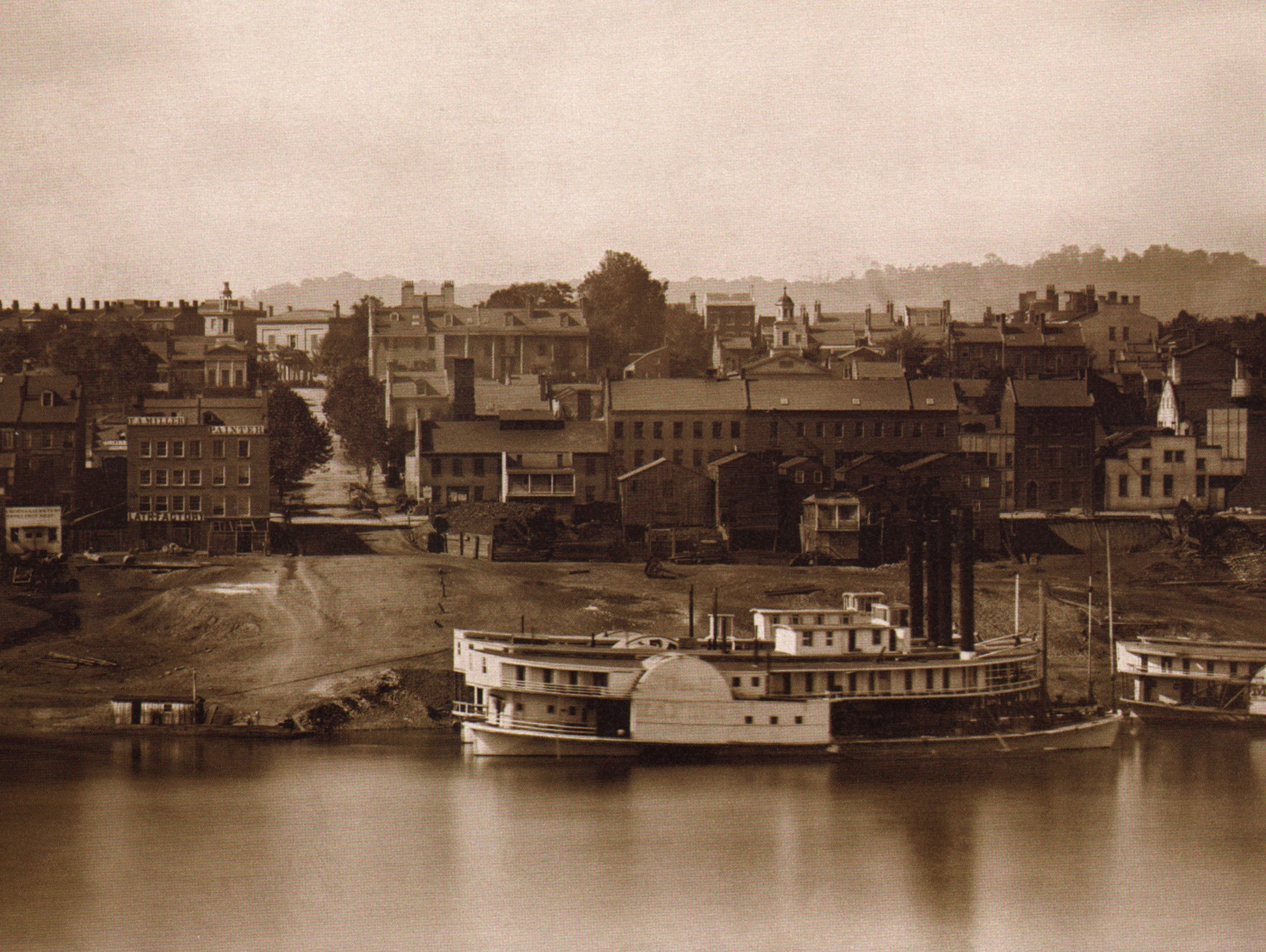 Daguerreotype of the Cincinnati skyline taken on September
