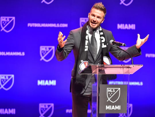 David Beckham sueña con llevar a un equipo de Miami