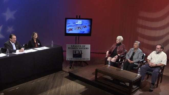 Candidates for the District 3 seat on the Las Cruces Public Schools Board of Education recently participated in a candidates' forum, sponsored by the League of Women Voters of Greater Las Cruces and KRWG-TV.
