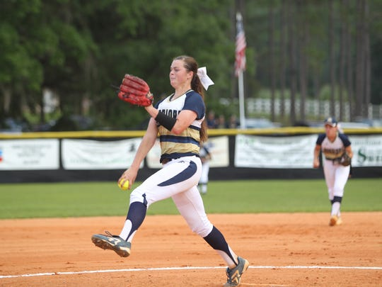Aucilla Christian sophomore Abigail Morgan is 13-3 this year with a 1.02 ERA and is hitting .457 at the plate.