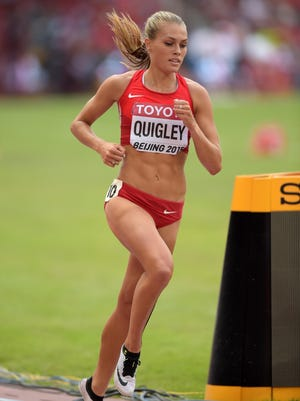 Colleen Quigley (USA) places sixth in women's steeplechase heat in 9:29.09 to advance during the IAAF World Championships in Athletics at Beijing National Stadium last August.