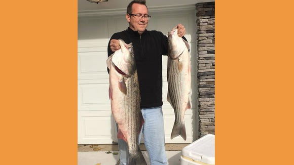 Joe Jr and Andrew Smith fished in the back of Brigantine and had a great time with some big fish using plugs, jigs, and live bait.