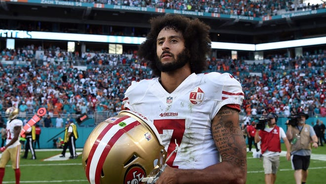 Colin Kaepernick as a member of the 49ers in 2016.