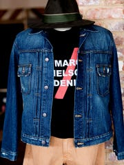 A denim jacket display at the Marc Nelson store on
