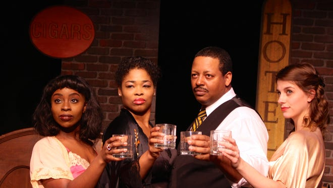 """From left, Mariah Sade Ralph, Dwan Hayes, Phillip Bernard Smith and Lacey Connell star in the musical revue """"Blues In The Night"""" at the Roxy Regional Theatre, Feb. 5-20."""