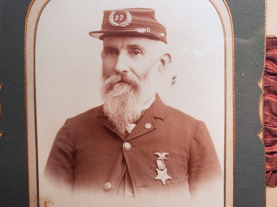 This is James Nickel, who served in the 165th Pennsylvania Militia, Company I, and the 99th Pennsylvania Volunteer regiment, Company C. It is in the collection of Civil War artifacts up for sale at Wehrly's Auction