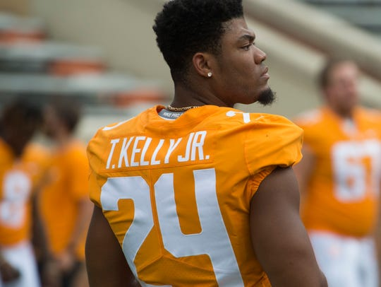 Tennessee defensive back Todd Kelly Jr. (24) at Media
