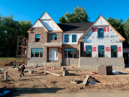 home under construction in Hampton Township, Pa.