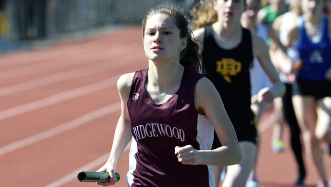 Evelyn Kotch helped Ridgewood's 4-x-400 relay run its fastest time since 2007, with a 3:59.38  for second place in the event Saturday. Ridgewood clinched a record 12th state sectional title by winning the North 1, Group 4 team championship on Saturday, May 26, 2018.