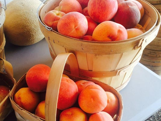 peaches basket