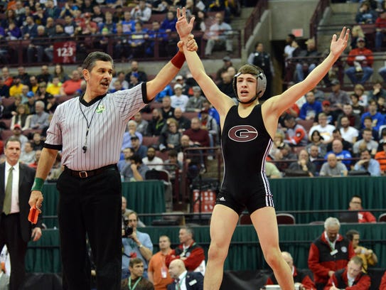 Genoa's Dylan D'Emilio has two state crowns in two