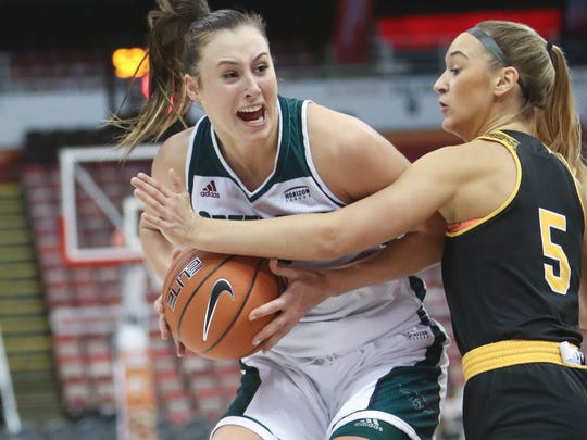 Mehryn Kraker (West Allis Central) was named the Player of the Year in the Horizon League this year for UW-Green Bay.