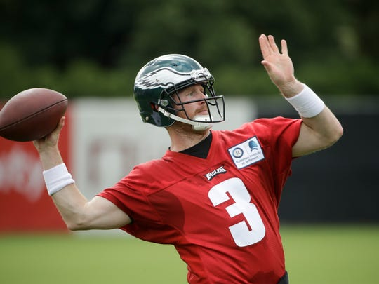Former Penn State quarterback Matt McGloin is shown here during his days with the Philadelphia Eagles.