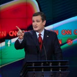 Ted Cruz speaks during the CNN Republican presidential debate on Dec. 15, 2015, in Las Vegas.