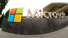 FILE - This July 3, 2014, file photo, shows the Microsoft