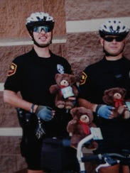 Anderson police officers Allen Hammond, left, and Capt.