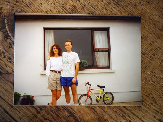 Anne Marie Fahey with her brother Brian Fahey while visiting Ireland in 1994