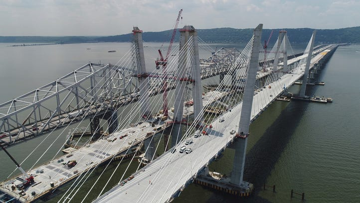 All the cables are in place on the westbound span of