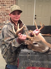 On Jan. 6, Jace Gipson tagged this dandy 9-point buck while hunting with his dad, Will Gipson.