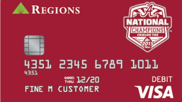 Regions CheckCards celebrating the Crimson Tide's 2015 season are already available.