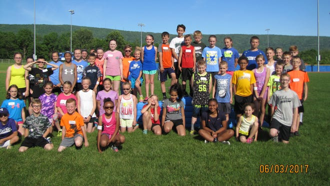 Participants in the 2017 PA Local Youth Track & Field meet pictured: Front Row:  Zack Stoner, Colton Yeager, Jeron Fletcher, Janiah Lowery, Essence Robinson, Amaya Barnes, Jeremiah Yeager 2nd Row: Emma Truax, Brenna Snyder, Ginnah Kendall, Neveah Earley, Ava Whysong, Ella Whysong, Emily Barclay, Shaina Soper, Daly Snowden, Jakob Miner, Gaven Mellott, Autumn Becker, Owen Garlock,  3rd Row: Rosalyn Truax, Logan Bohrer, Kia Purvis, AJ Claverella, Veronica Rine, Madison Shatzer, Imogene Jensen, Mitchell Martin, Micah Wise, Jaden Skiles, Hunter Egli, Grace Egli, Sophia Stoner, Boyd Becker, Drew Cole, Carter Coons 4th Row: Samantha Ashkettle, Willow Hurley, Peyton Barvinchack, Claire Coons, Nathaniel Goodhart, Natalina Claverella,    Madison Goodhart, Evan Shatzer, Katelyn Yeager, Trent Amsley
