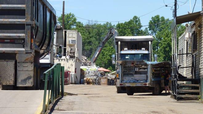 Trucks at Klein Recycling in Hillsborough.