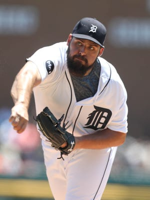 Detroit Tigers Michael Fulmer pitches against the Los Angeles Angels during first inning action Thursday, June 8, 2017 at Comerica Park in Detroit, MI.  Kirthmon F. Dozier/Detroit Free Press
