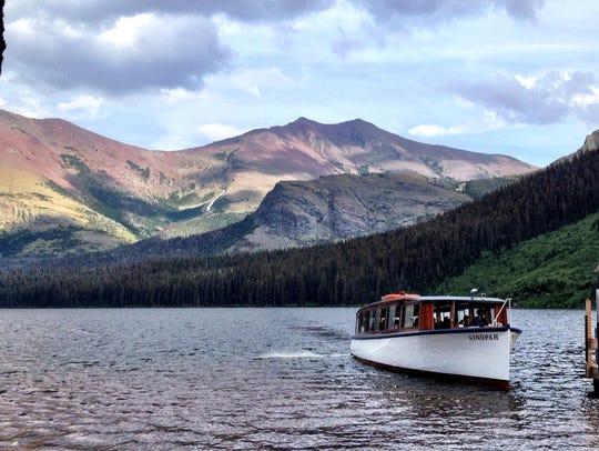 Sinopah boat on Two Medicine Lake. The Glacier Park